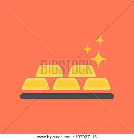 flat icon on stylish background poker gold bullion