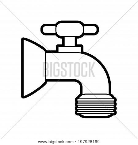 faucet sideview icon image vector illustration design black line