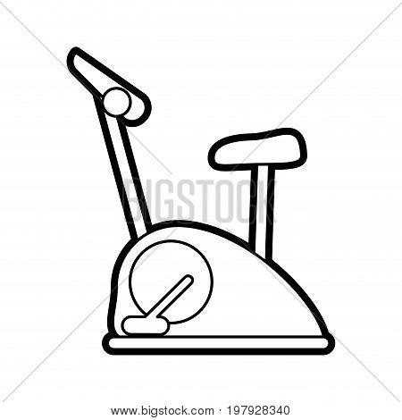 stationary spinning bike exercise equipment icon image vector illustration design black line