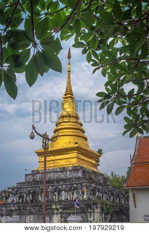Wat Pra Tard Chang Kum temple in Nan Province,Thailand