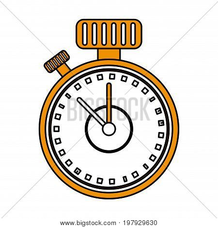 analog chronometer icon image vector illustration design one color