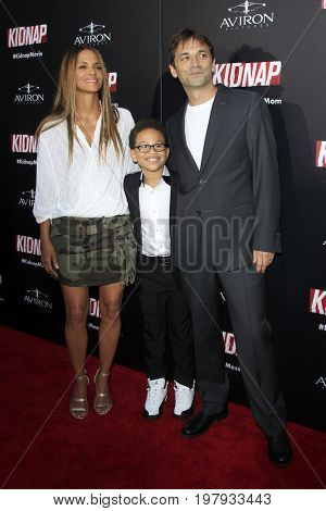 LOS ANGELES - July 31:  Halle Berry, Sage Correa, Luis Prieto at the