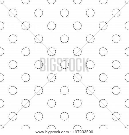 Seamless abstract monochrome circle pattern - simple vector background graphic design