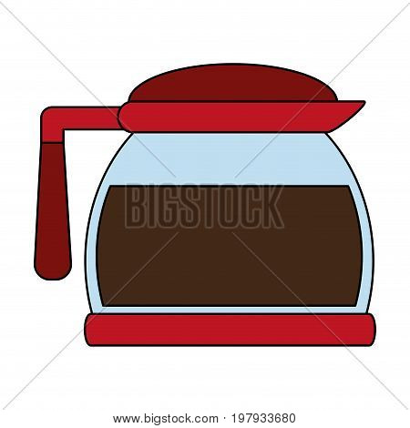 pot coffee related icon image vector illustration design