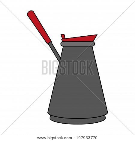 turkish pot coffee related icon image vector illustration design