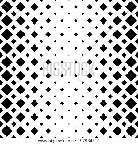 Abstract square pattern background - monochromatic geometrical vector graphic design from diagonal squares