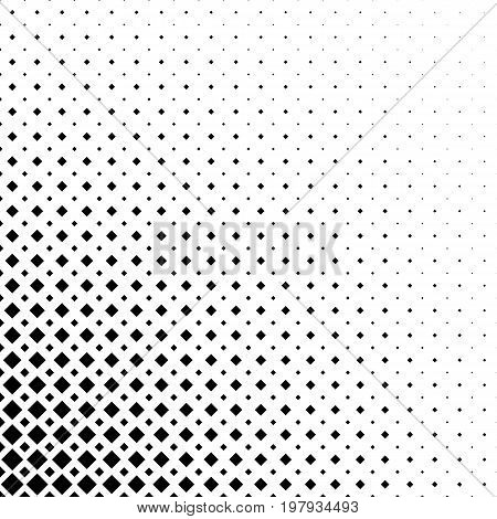 Monochromatic abstract square pattern background - black and white geometrical halftone vector graphic from diagonal squares