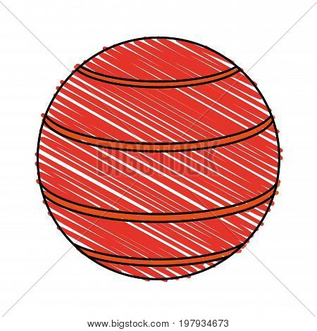 rubber ball icon image vector illustration design sketch style