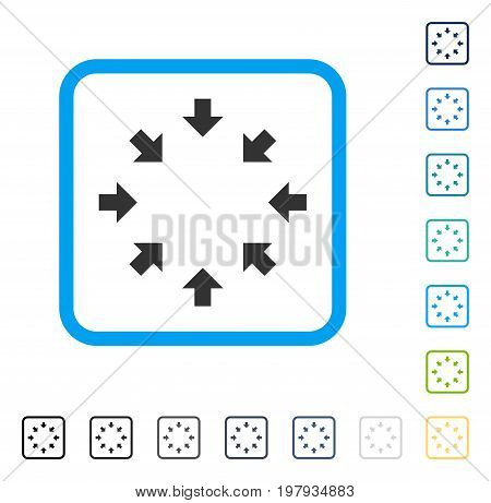 Compact Arrows icon inside rounded square frame. Vector illustration style is a flat iconic symbol in some color versions.