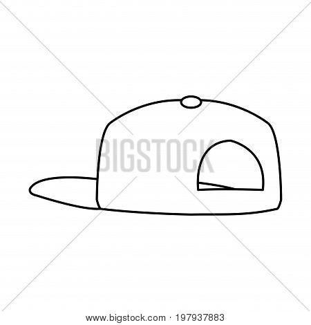 baseball cap sport accessory fashion back view vector illustration