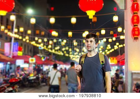 Foreigner In A Chinatown At The Gate