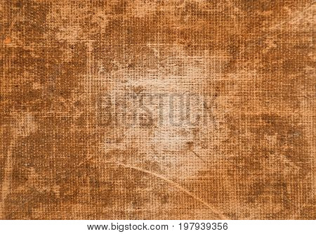 Rough burlap fabric weathered with time for backgrounds