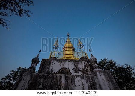 Buddhist Mount Phou Si Temple