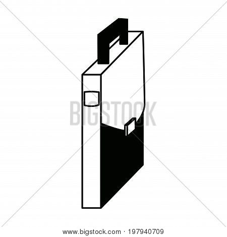 briefcase business case accessory element icon vector illustration