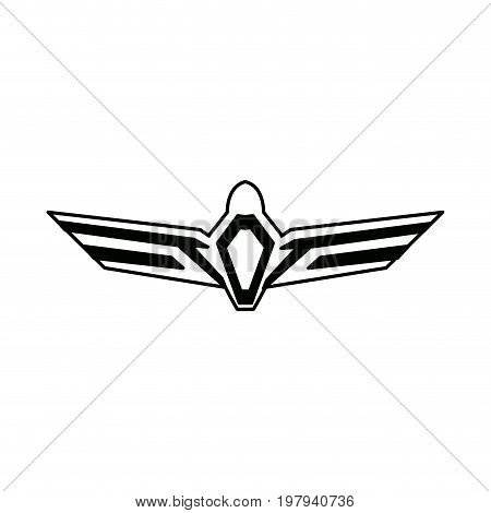 aviation emblem badge military and civil aviation icon vector illustration