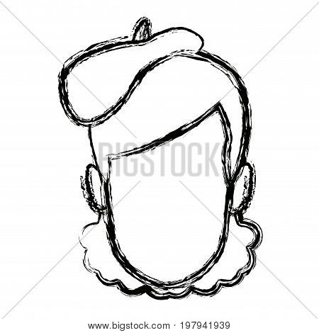 man artistic beret hat clothing face person character vector illustration