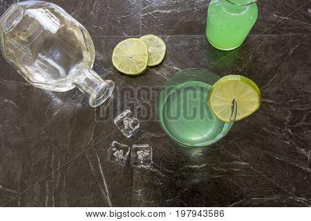 Vintage Gin Gimlet Cocktail
