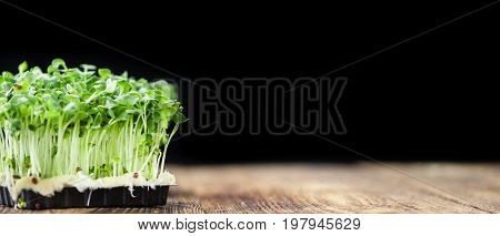 Portion Of Fresh Cress (selective Focus)