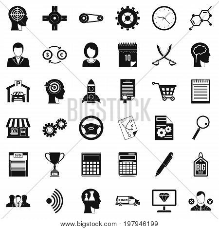 Business choice icons set. Simple style of 36 business choice vector icons for web isolated on white background
