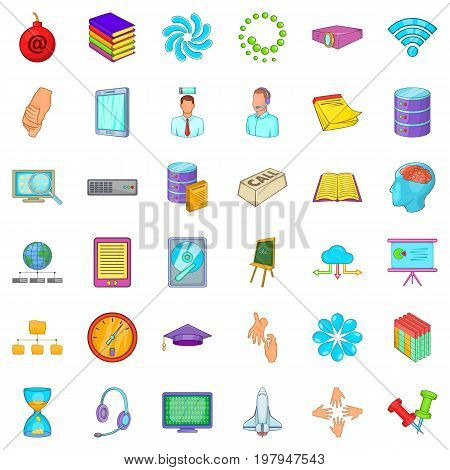 Business studio icons set. Cartoon style of 36 business studio vector icons for web isolated on white background