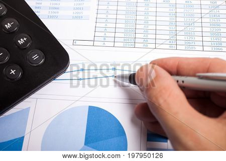 Man working on business documents