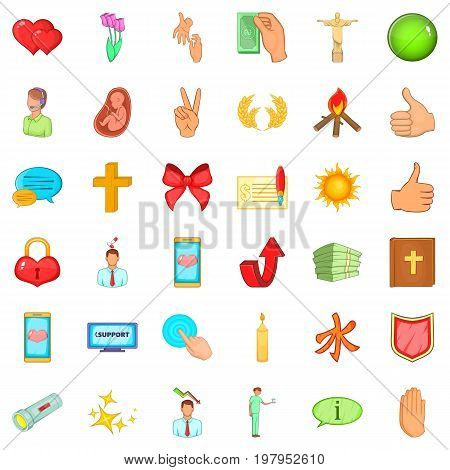 Pregnant icons set. Cartoon style of 36 pregnant vector icons for web isolated on white background