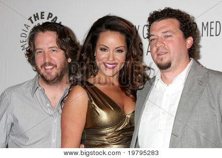 LOS ANGELES - MARCH 10: Steve Little, Katy Mixon, Danny McBride arrive at the