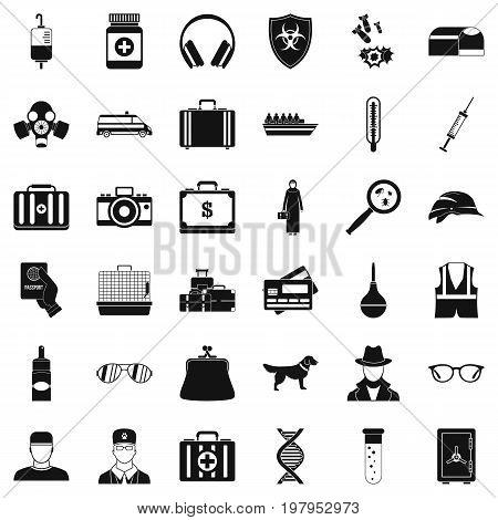 Event icons set. Simple style of 36 event vector icons for web isolated on white background