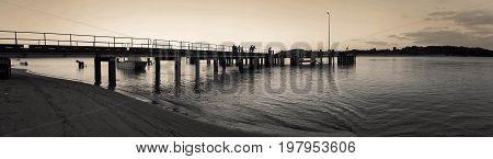 late evening at Seisia jetty Cape York Australia