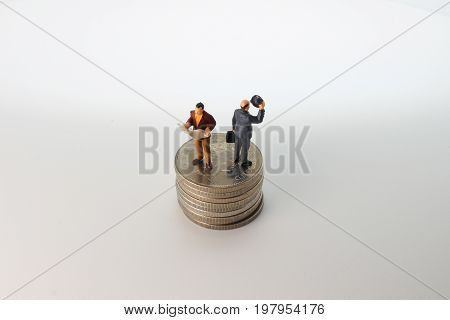 The Min Busines Sman Standing On Money
