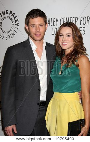 """LOS ANGELES - MAR 13:  Jensen Ackles and Danneel Harris Ackles arrive at the """"Supernatural"""" PaleyFest 2011 at Saban Theatre on March 13, 2011 in Beverly Hills, CA"""