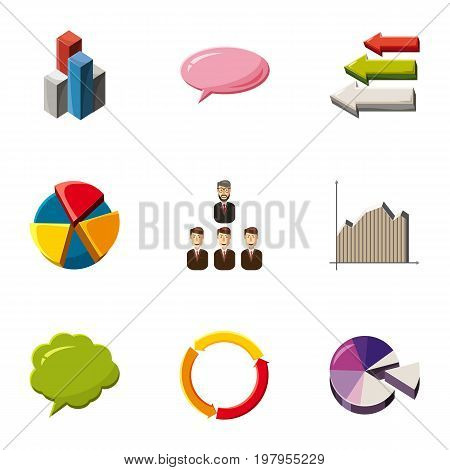 Trade infographic icons set. Cartoon set of 9 trade infographic vector icons for web isolated on white background