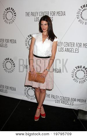 """LOS ANGELES - MAR 13:  Genevieve Cortese Padalecki arrives at the """"Supernatural"""" PaleyFest 2011 at Saban Theatre on March 13, 2011 in Beverly Hills, CA"""