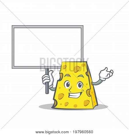 Bring board cheese character cartoon style vector illustration