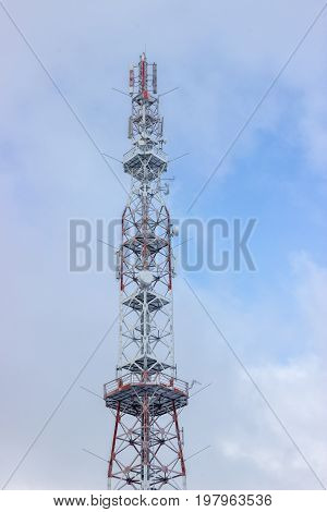 Top Of The Telecommunication Tower At Winter 3