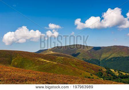 Mountain Hillsides In Late Summer