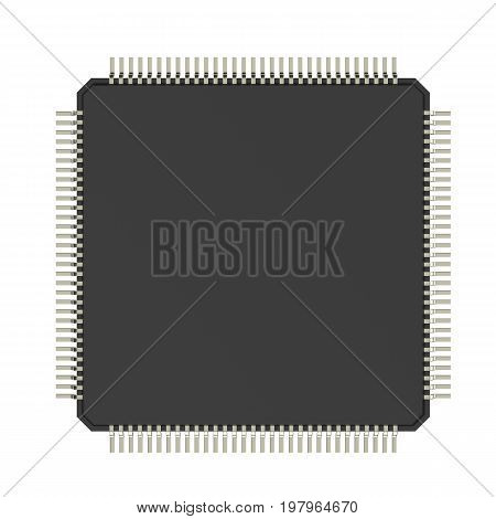 Cpu Chip Isolated