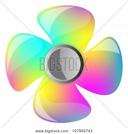 Hand spinner vector illustration on white background eps 10