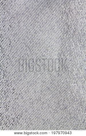 Background of gray polyester fabric with a texture