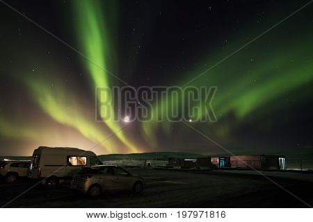 Aurora Borealis in Tingvellir National Park, South Iceland