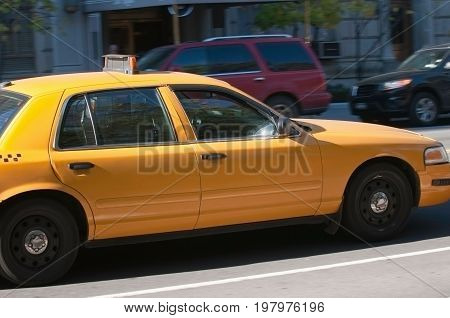 New York City Cab, Color Image, Outdoors, Horizontal Image, Day