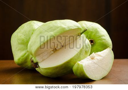Fresh guava fruit ready to eating,High vitamin C fruit