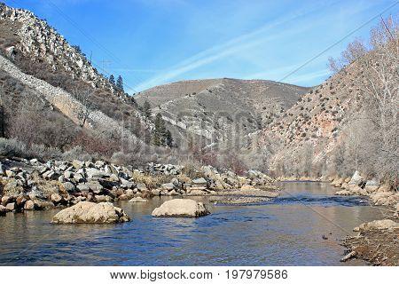 River Weber in the Weber Canyon, Utah