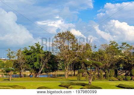 Park In Chang Town, Chanthaburi, Waterfront, Thailand