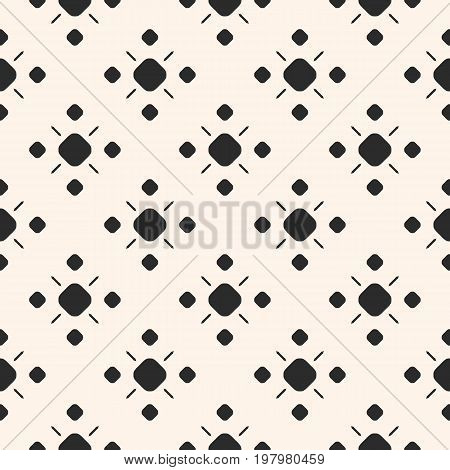 Geometric pattern. Vector monochrome ornamental geometric background texture. Simple seamless pattern with circles and lines. Traditional motif in modern digital rendition. Design for decor, fabric, prints. Geometric shapes, Geometric backgroun