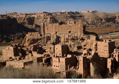 Old Kasbah In The Atlas Mountains Of Morocco