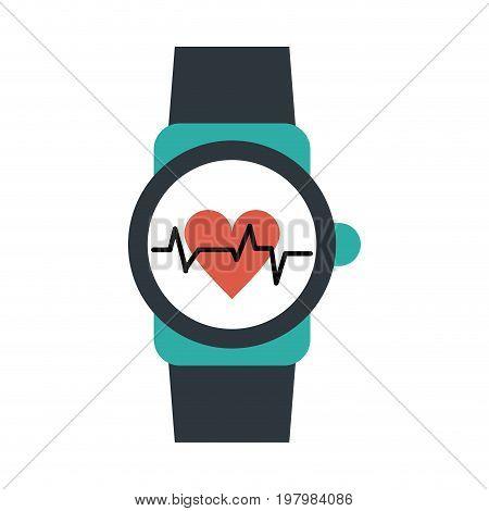 heart rate wrist monitor icon image vector illustration design