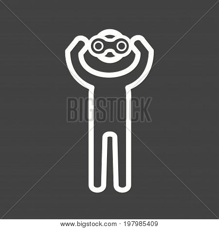 Observation, analysis, sign icon vector image. Can also be used for Personality Traits. Suitable for web apps, mobile apps and print media.