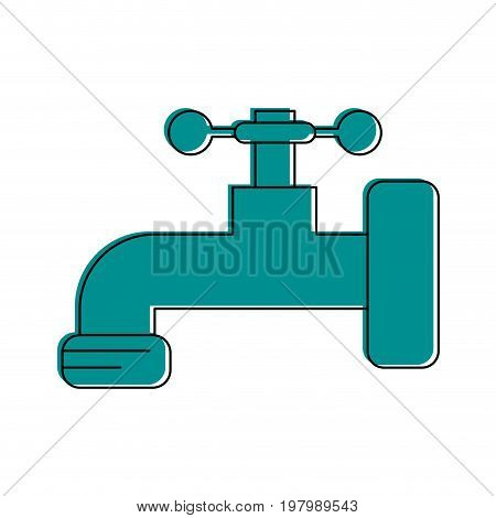 water faucet icon image vector illustration design  blue color