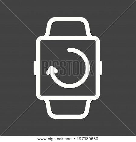 Transfer, sync, smart icon vector image. Can also be used for Smart Watch. Suitable for mobile apps, web apps and print media.